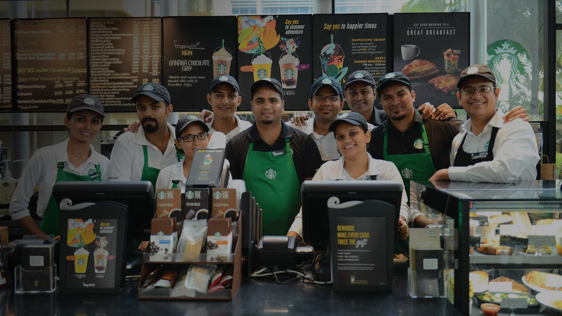 Mithali and Team for Tata Starbucks