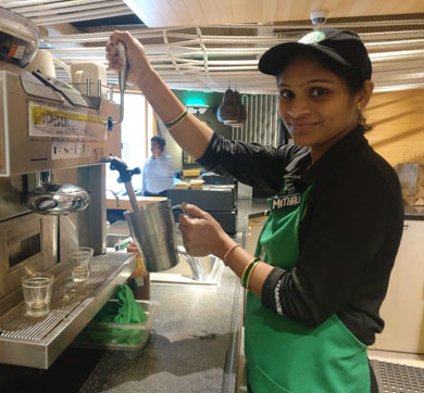 Jobs: Women Baristas at Tata Starbucks