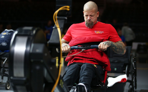 Dave, paralysed from the ribs downward, triumphed at the Invictus Games