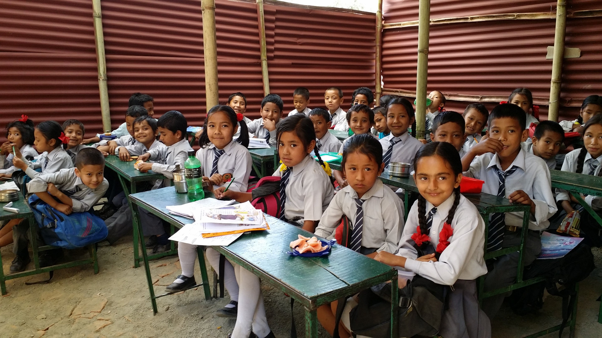 Temporary learning centres following Nepal earthquake
