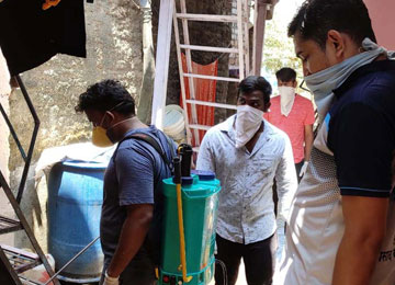 Carrying out sanitisation in the localities